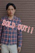 「JELADO」 Rayon Check Shirts レーヨン オンブレーチェック ボックスシャツ [オールドレッド]