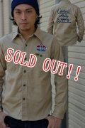 「Pherrows」 フェローズ コットンツイル カスタムワークシャツ 刺繍 ワッペン 14W-720WS-P [ベージュ]