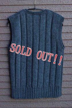 画像2: 「JOHN GLUCKOW」by 「JELADO」 The Cable Vest ジョングラッコー ジェラード ケーブル ニットベスト JGSA-14AW010 [チャコール]