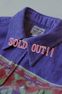 画像2: 「Pherrows」 フェローズ ネイティブ柄 ジャガードブランケットシャツ オリジナル ビーコン生地 14W-PRS1 [パープル]