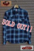 「JELADO」 Western Shirts ジェラード オンブレチェック コットンウエスタンシャツ JPSH-1502 [オールドネイビー]