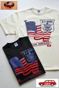 「JELADO」 Army Tee  ジェラード アーミー プリント半袖Tシャツ 星条旗 JPT-1504 [ホワイト・ブラック]