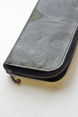 画像2: 「MAGNET」 Long Zip Wallet マグネット  ロングジップウォレット [WOOD BLACK]