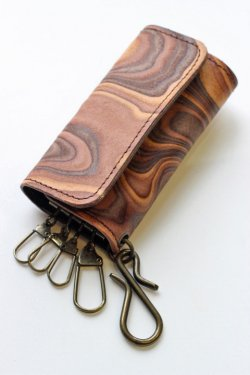 画像2: 「MAGNET」 Key Case マグネット キーケース [WOOD BLACK・WOOD BROWN・MOSAIC]