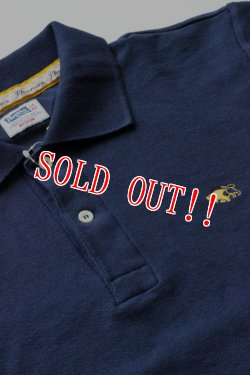 画像2: 「Pherrows」 フェローズ 鹿の子 半袖 ポロシャツ 15S-PPS1 [ネイビー]