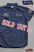 「Pherrows」 フェローズ RANDYS AUTO カスタム半袖ワークシャツ 15S-702WSS-P [ネイビー]