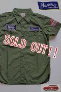 「Pherrows」 フェローズ RANDYS AUTO カスタム半袖ワークシャツ 15S-702WSS-P [オリーブ]