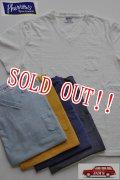 「Pherrows」 フェローズ  スラブ 半袖 Vネック ポケットTシャツ 15S-PSPT2 [ホワイト・ネイビー・マスタード・Sブラック・サックス]