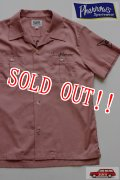 「Pherrows」 フェローズ 半袖刺繍ボーリングシャツ 14S-PBS1  [ピンク]