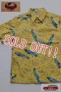 「JELADO」 Car Pattern ALOHA Shirts カーパターン アロハシャツ ボタンダウン [パイナップルイエロー]