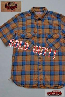 画像1: 「JELADO」 ベンチレーション 半袖 チェック ワークシャツ [JP02103 [フェイドオレンジ]