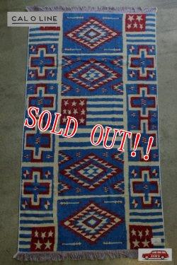 画像1: 「CAL O LINE」 INDIAN FLAG BLANKET キャルオーライン インディアン フラッグ ブランケット 今治タオル CL15F087 [ブルー]