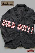 「Jackman」 Cotton Dotsume Jacket コットン ドツメ ジャケット 度詰天竺 JM7870 「スミクロ」