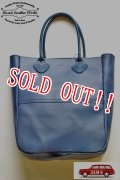 「Re.Act」×「JAMS」 Special Order All Leather Tote Bag  リ・アクト × ジャムズ 別注 レザートートバッグ [インディゴ]