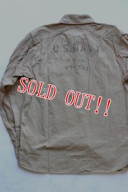 画像2: 「Pherrows」 フェローズ ミリタリースラブツイルシャツ US NAVY 15W-780WS-VP131 [ベージュ]