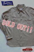 「Pherrows」 フェローズ ミリタリースラブツイルシャツ US NAVY 15W-780WS-VP131 [ベージュ]