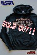 「Pherrows」 フェローズ プリントパーカー PCT 15W-301P [ブラック]