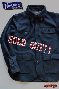 画像1: 「Pherrows」 フェローズ メルトン ハンティングシャツジャケット CPO 15W-PHW1 [ブラック]