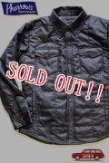 「Pherrows」 フェローズ キルティング シャツジャケット 綿シャツ 15W-PQDJ1 [ダークネイビー ]