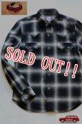 「JELADO」 Western Shirts ジェラード オンブレチェック コットンウエスタンシャツ JPSH-1502 [スモークブラック]