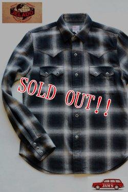画像1: 「JELADO」 Western Shirts ジェラード オンブレチェック コットンウエスタンシャツ JPSH-1502 [スモークブラック]