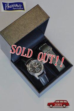 画像1: 「Pherrows」 フェローズ 25周年限定モデル USN BUSHIP ビューシップ ミリタリーウォッチ 腕時計 USN-BUSHIP-WATCH [ブラック]