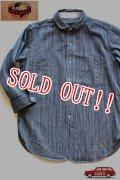 「JELADO」 LOWER SHIRTS ジェラード ローワーシャツ 7分袖 シャンブレーワークシャツ AG11102 [インディゴヒッコリー]