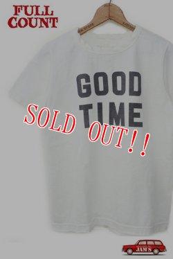 画像1: 「FULLCOUNT」 BASIC PRINT TEE (GOOD TIME) フルカウント ベーシックプリント Tシャツ [ホワイト]