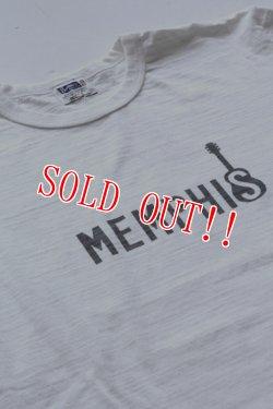 画像3: 「Pherrows」 フェローズ  MEMPHIS プリントTシャツ 日本製 16S-PST1 [ホワイト・ネイビー]