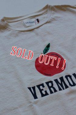 画像2: 「CAL O LINE」 VERMONT APPLE T-SHIRT キャルオーライン アップルプリントTシャツ [ホワイト]