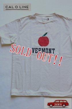 画像1: 「CAL O LINE」 VERMONT APPLE T-SHIRT キャルオーライン アップルプリントTシャツ [ホワイト]