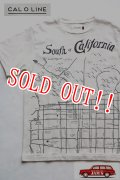 「CAL O LINE」 CARIFORNIA MAP T-SHIRT キャルオーライン カリフォルニア マップ プリントTシャツ [ホワイト]
