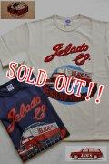 「JELADO」 59s Catalogue Tee  ジェラード カタログ トラックプリント Tシャツ JP12202  [バニラ・ネイビー]
