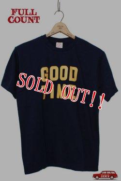 画像1: 「FULLCOUNT」 PRINT TEE (GOOD TIME) フルカウント プリント Tシャツ [ネイビー]