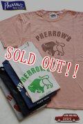「Pherrows」 フェローズ  バッファローロゴ プリント半袖Tシャツ PT2 [ホワイト・グレー・ブラック・シダン・ネイビー]
