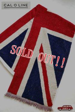 画像1: 「CAL O LINE」 UNION JACK FLAG BLANKET キャルオーライン イギリス国旗 ユニオンジャック ブランケット 今治タオル CL162-093 [イギリス]