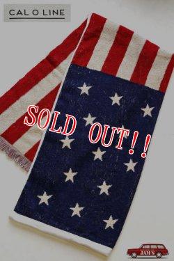 画像1: 「CAL O LINE」 AMERICA FLAG BLANKET キャルオーライン アメリカ国旗 星条旗 ブランケット 今治タオル CL162-092 [アメリカ]