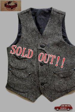 画像1: 「JELADO」 Clovis Vest  ジェラード クロヴィスベスト ウールツイード AG13503 [ミックスブラック]