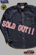 「Pherrows」 フェローズ 25周年記念モデル ウール混 デニムボタンダウンシャツ 16W-PBD1-25TH [インディゴ]