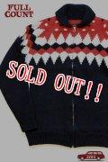 「FULLCOUNT」 Cowichan Sweater フルカウント カウチンセーター #3718  [ブラック]