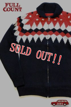 画像1: 「FULLCOUNT」 Cowichan Sweater フルカウント カウチンセーター #3718  [ブラック]