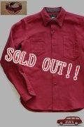 「JELADO」 Maryland Shirts ジェラード メリーランドシャツ ドビークロス ネル AG13105 [オールドレッド]