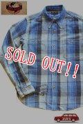 「JELADO」 DUG OUT SHIRTS ジェラード ダグアウトシャツ 40着限定生産 ヴィンテージ加工 ネルシャツ [ブルー]