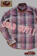 「JELADO」 DUG OUT SHIRTS ジェラード ダグアウトシャツ 40着限定生産 ヴィンテージ加工 ネルシャツ [ライチ]