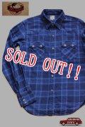 「JELADO」 Nep Check Western Shirts ジェラード ネップチェック ウエスタンシャツ JP21108 [ネイビー]