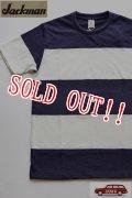 「Jackman」 4 Seam Boder Silk Cotton T-Shirts  ジャックマン 4シーマステッチ ボーダー シルクコットンTシャツ  JM5754 「オフホワイト×ネイビー」