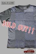 「CAL O LINE」 PATCHWORK Tee キャルオーライン パッチワーク Tシャツ [ヘザーグレー]