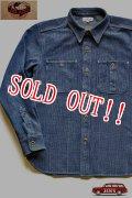 「JELADO」 Railroader Shirts V/F ジェラード レイルローダーシャツ 刺し子 藍染 ヴィンテージ加工 JG22104 [フェイドインディゴ]