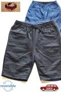 「JELADO」 Reversible Surf Shorts  ジェラード リバーシブル サーフショーツ RG22312 [ブラック×ブルー]