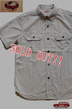画像1: 「JELADO」 ジェラード 半袖 綿麻シャンブレーワークシャツ JP22102 [バニラ]